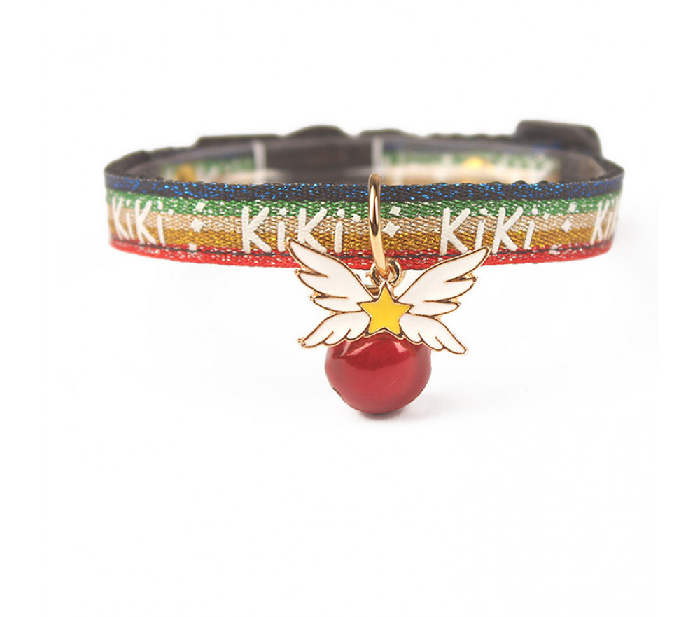 Honey Wings Bell Cat Collar-Red