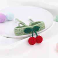 Handmade Cherry Crochet Cat/Dog Collar