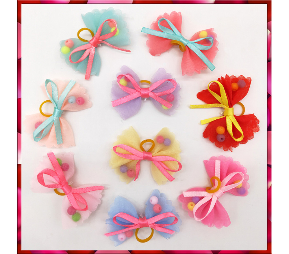 Pet Bow Hairband Bead Style