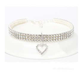 Three-rows Crystal Collar For Cats and Dogs
