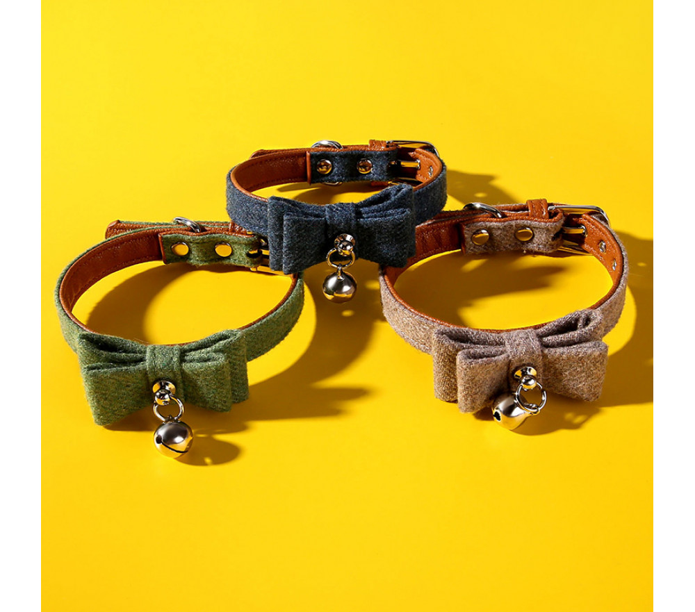Cat Bow Tie Kitten Bell Collar Pet Collar Big Sale