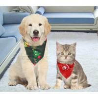 Christmas Dog Saliva Towel Pet Triangle Towel