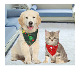 Dog Christmas Bandana Funny Cat And Dog Bandanas