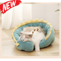 Shake Shake Dinosaur Cat Bed Plush Warm Dog Bed