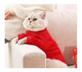 Cute Warm Bright-line Cat Sweater