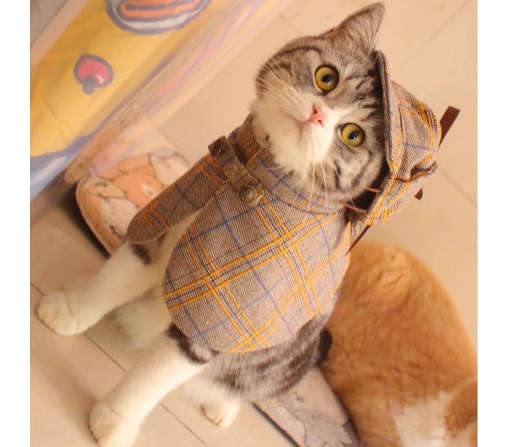 Sherlock Holmes Detective Cloak Cat Costume