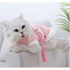Cute Cat Hanfu Autumn and Winter Two-legged Cat Clothing