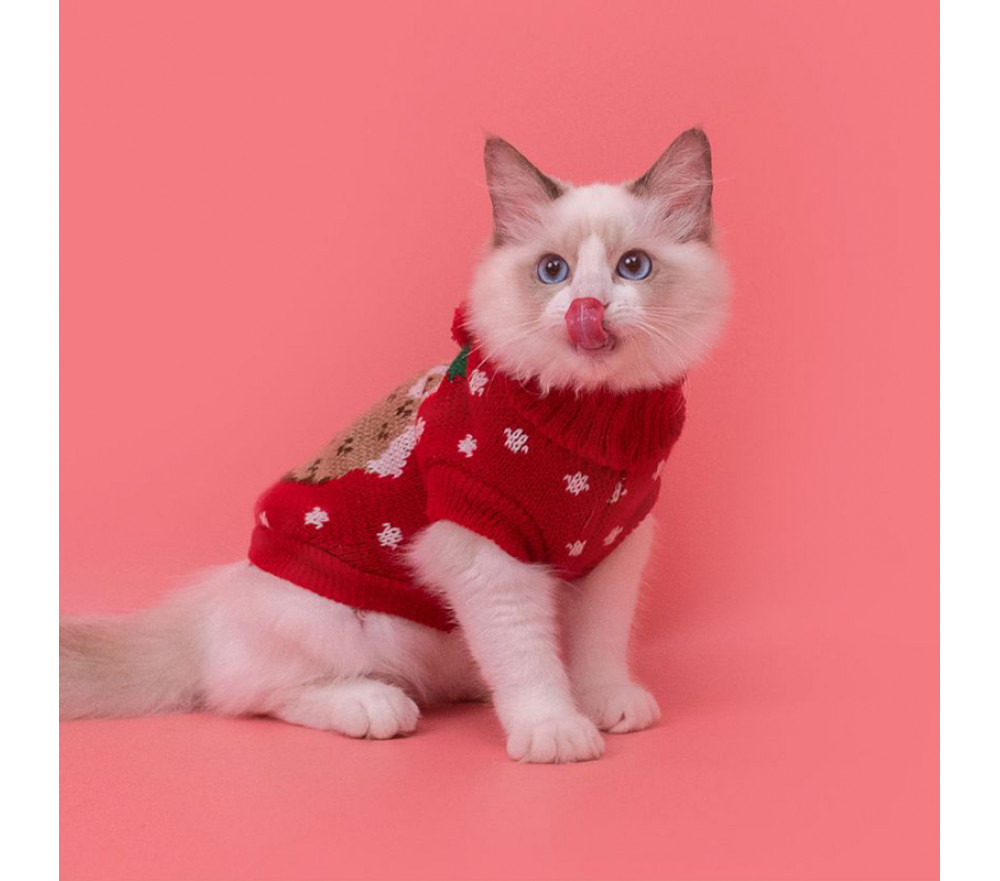 Christmas Warm Knitted Sweater for Cat and Small Dog