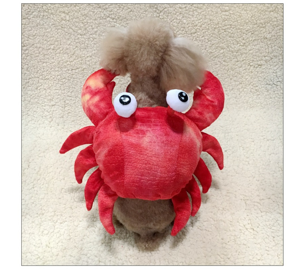 Crab Cosplay Costume Pet Clothing