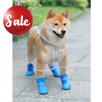 Dog Rain Boots Rubber Waterproof Dog Boots Shoes