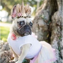 Elf Princess Hood Cat Cosplay Hat Halloween Pet Costume