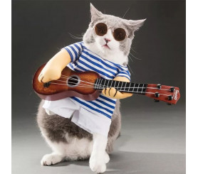Guitarist Two-legged Costume Pet Clothing