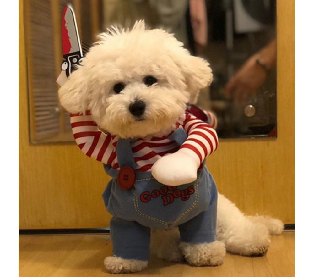 Chucky Doll Dog Halloween Costume Funny Killer