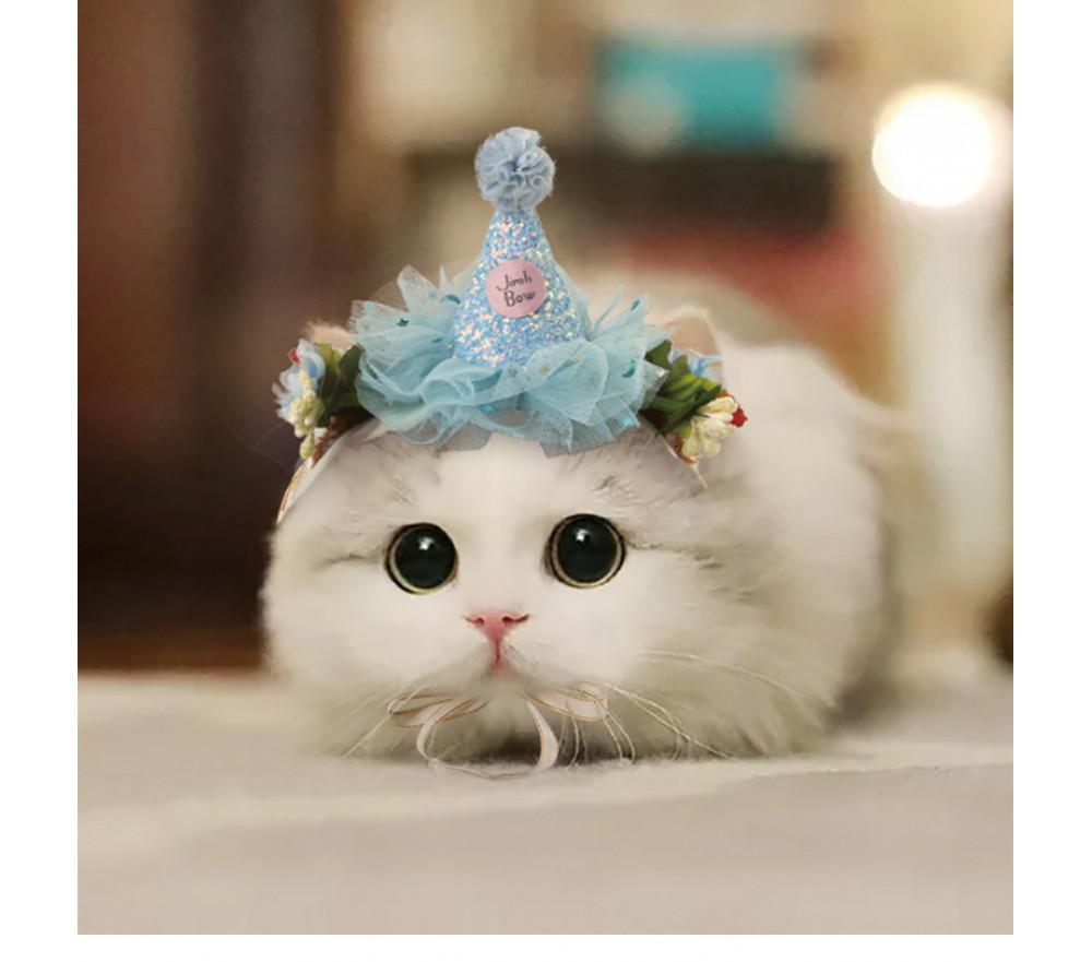 Lace Headband Cat Cosplay Halloween Pet Costume