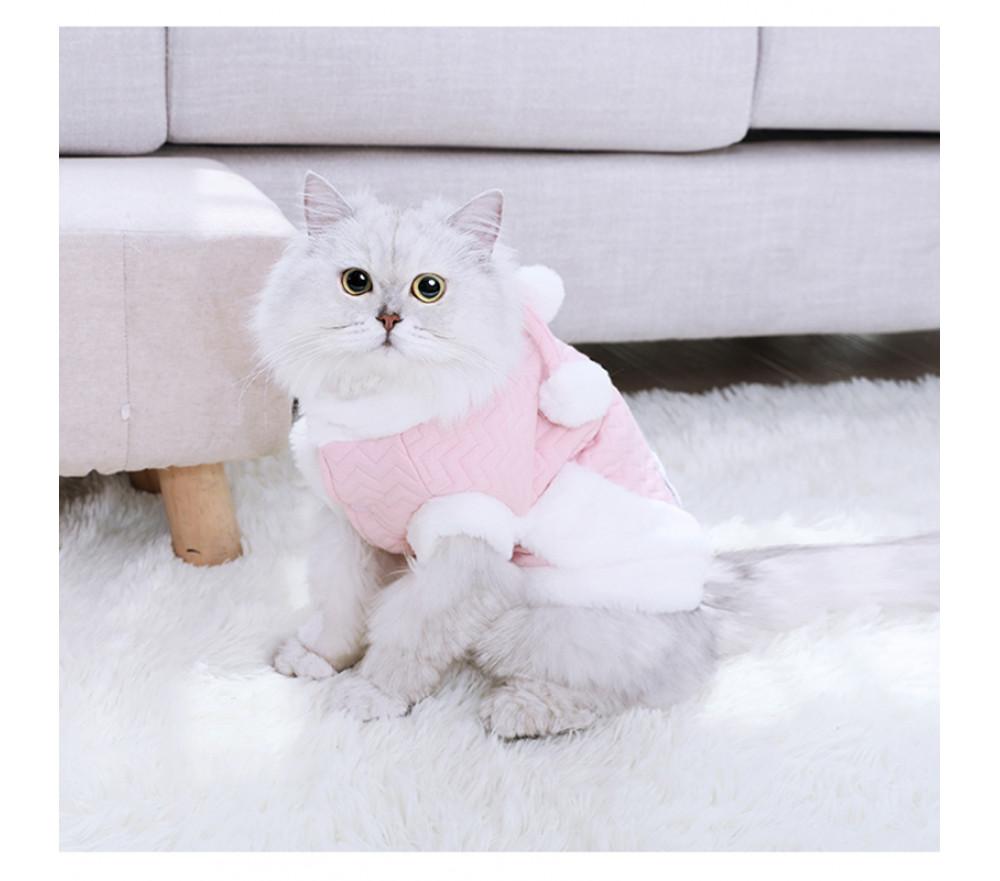 Plush Ball Cape Two-legged Cat Winter Clothes
