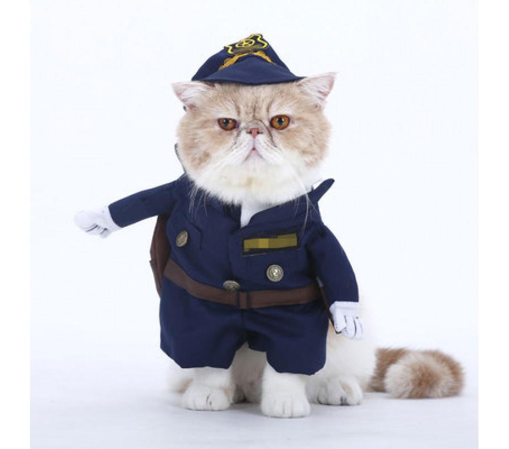 Cat Police Officer Dog Cop Costume