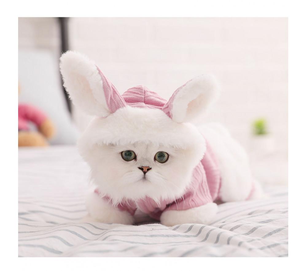 Cute Rabbit Ears Four-legged Warm Cat Winter Clothing