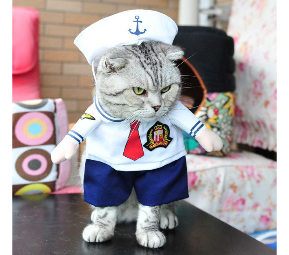 Sailor Two-legged Costume Pet Clothing