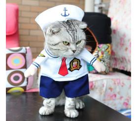 Sailor Two-legged Costume Pet Clothing