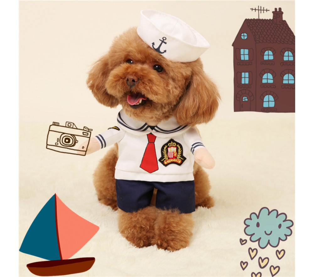 Sailor Costume for Cats/Dogs Halloween Pet Costume