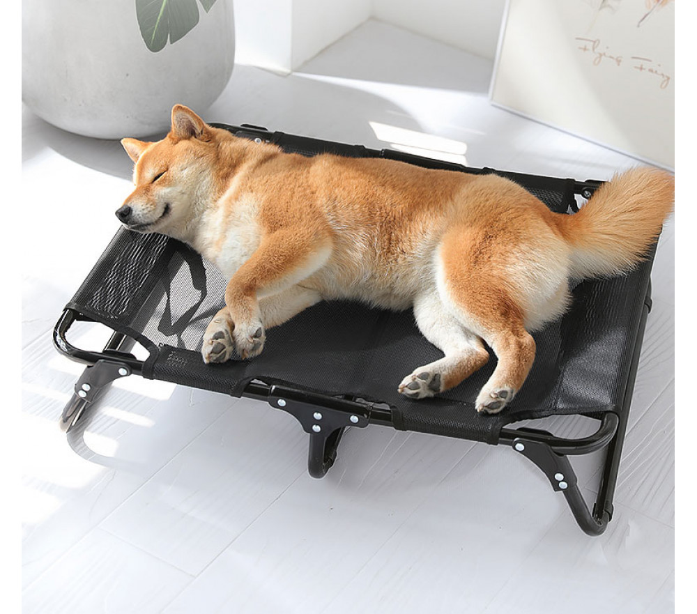 Foldable Mesh Pet Cot Elevated Dog Bed