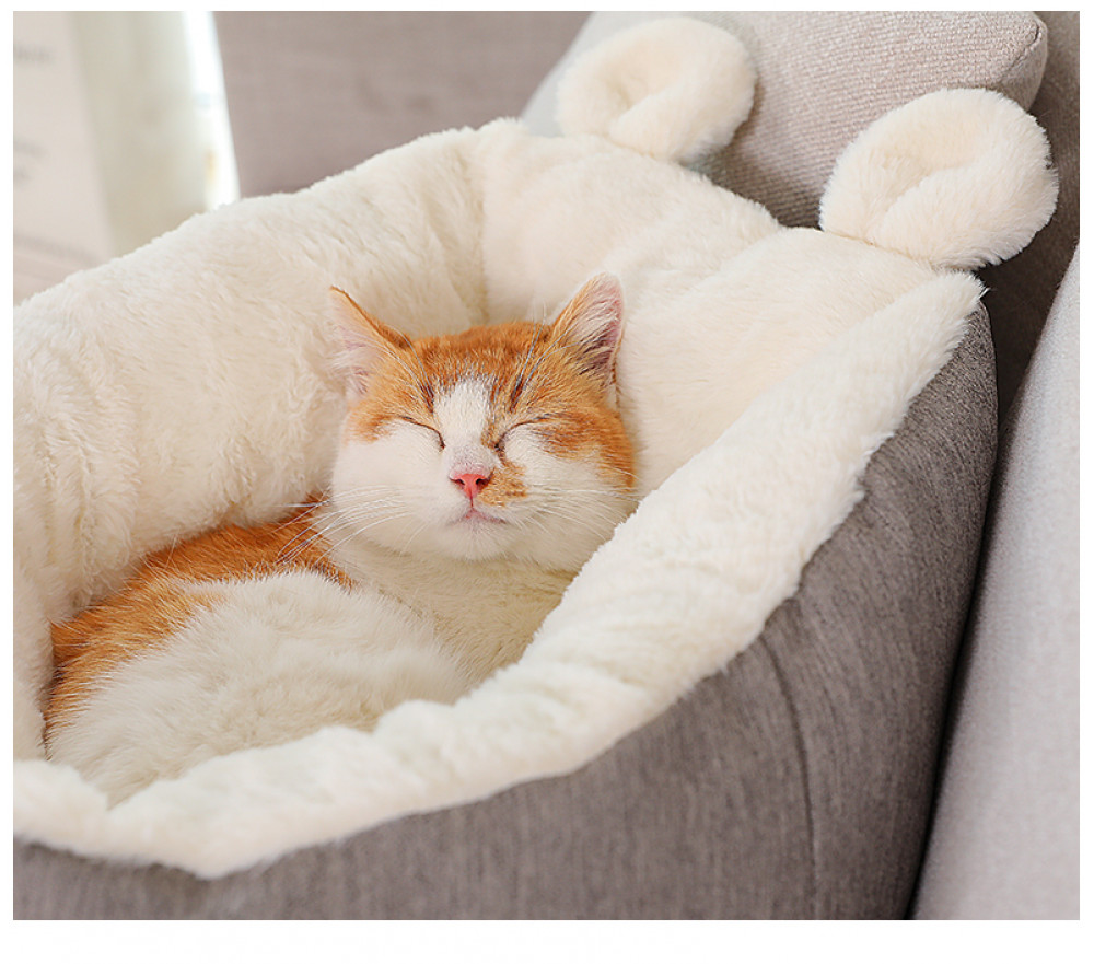 Rabbit Ears Cat Nest Winter Warm Sleep Mattress