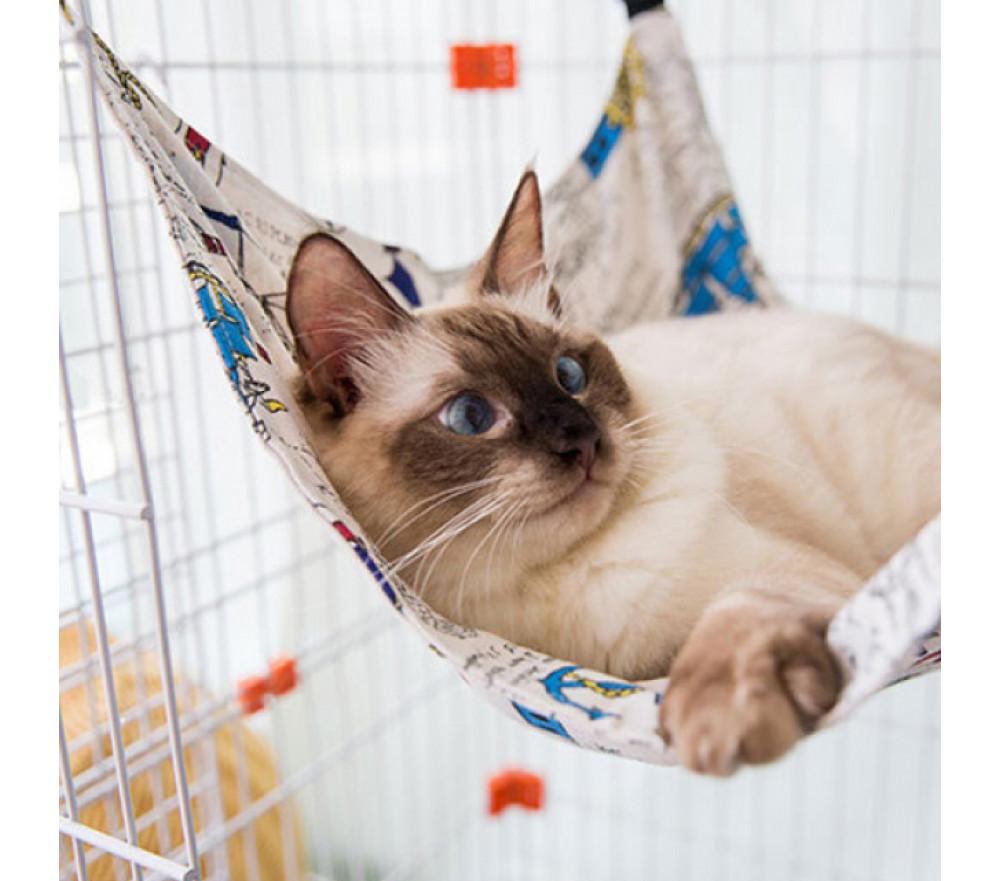 Cat Cage Hammock Hanging Cat Bed Canvas