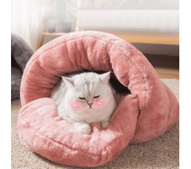 Closed Detachable Cat Nest Warm Winter Bed