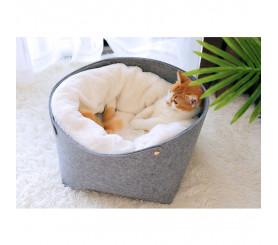 Felt Cloth Plush Cat Nest Deep Sleep Cat Bed