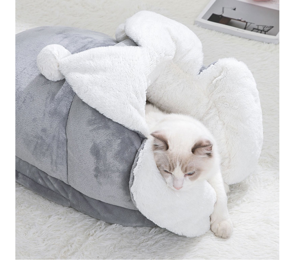 Cute Slippers Winter Cat Bed Detachable Washable Pet Bed