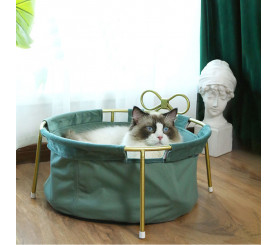 Retro Detachable Metal Frame Cat Nest
