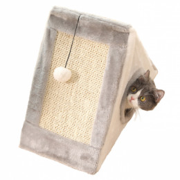 Triangle Cat Scratching Post with Bed Cardboard Scratcher