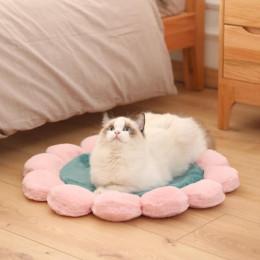Round Flower Pet Mat Princess Plush Mat