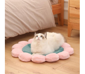 Round Flower Pet Mat Princess Plush Mat