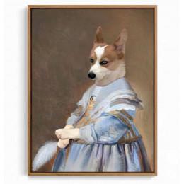 Little Beauty Custom Pet Portraits Renaissance Dog Painting