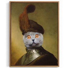 Funny Knight Custom Pet Portraits Cat Dog Portrait Painting