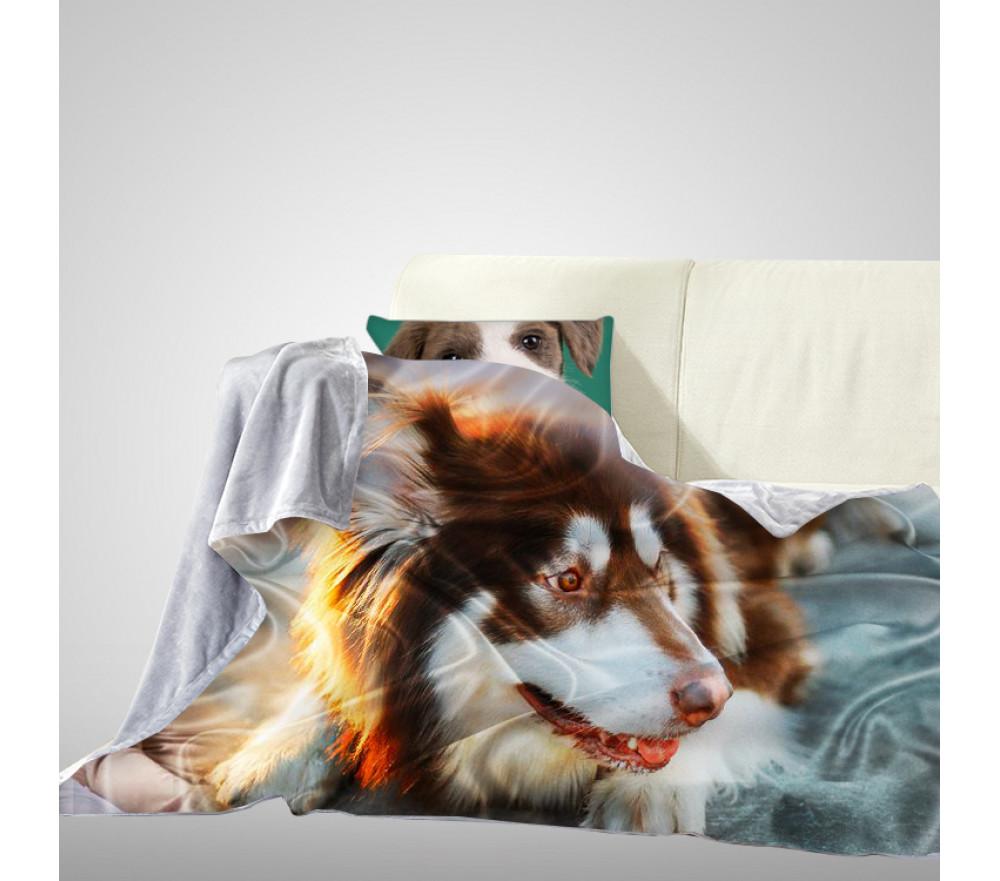 Personalized Photo Fleece Blanket Memorial Pet Photo Blanket