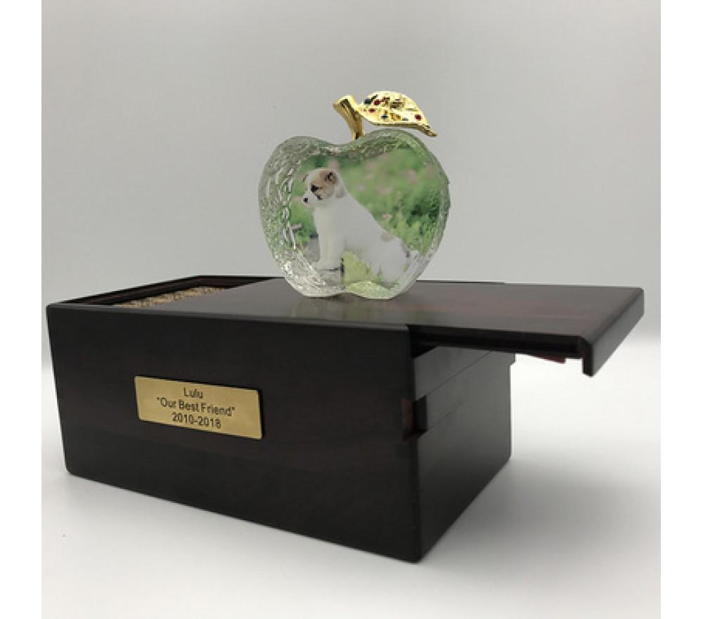 Custom Crystal Pet Photo Urn