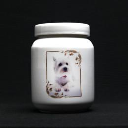 Customized HD Photo Ceramic Box Pet Memorial Urn