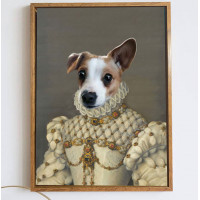 Royal Princess Pet Portraits Custom Renaissance Dog Painting