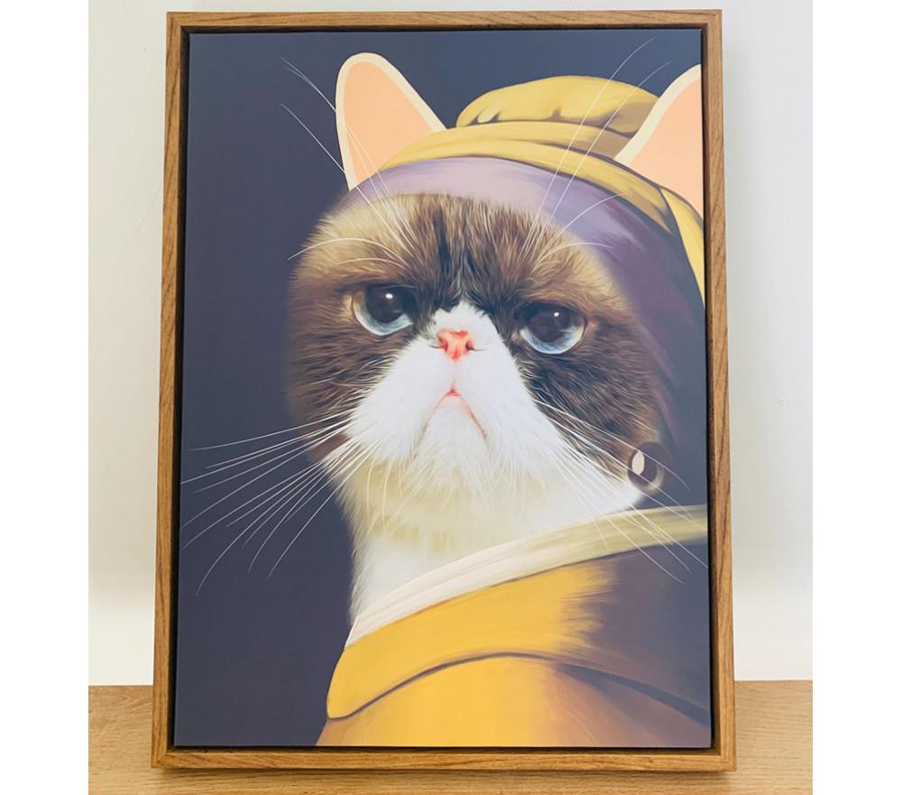 Custom Pet Portraits Girl With Pearl Earrings Fancy Renaissance Pet Painting