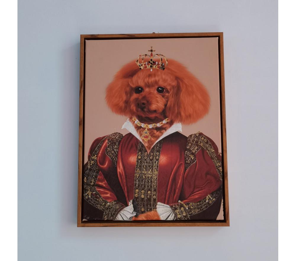 Custom Pet Portraits Lady Design Renaissance Pet Portraits Painting