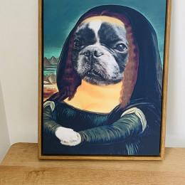 Mona Lisa Custom Dog Paintings Renaissance Pet Portraits