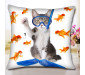 Custom Pet Portrait Pillow Printed Personalized Dog/Cat Pillow