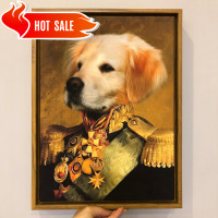 Custom Royal Pet Portraits Personalized Cat & Dog Portrait Painting Canvas