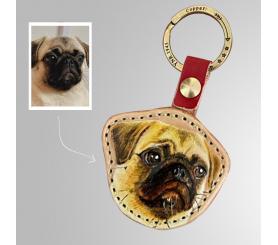 Personalized Pet Keychain Custom Photo Keychains Leather