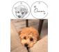 Custom Avatar DIY Keychain Lettering Pet Memorial Gifts