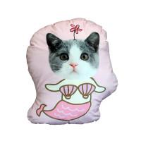 Personalized Pink Mermaid Pillow Custom Photo Pillow
