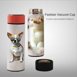 Personalized Travel Mug Custom Thermos vacuum Cup Stainless steel