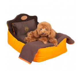 Cuddler Dog Bed with Pillow & Blanket